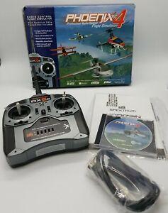 Phoenix RC 4 Professional Radio Control Flight Simulator Spektrum DX5e PC DVDRom
