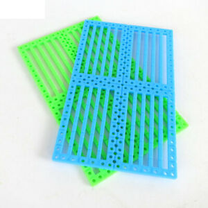 2pcs 12*7.5cm Car Chassis Perforated Plastic Panel Car Frame DIY For Robot Toy