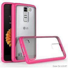 Exact Prism【Slim-Fit Transparent】Bumper Case For LG K7 / LG Tribute 5 Pink