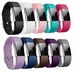 For Fitbit Charge 2 Strap Replacement Metal Buckle Wristband Small Or Large