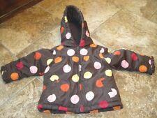 Gymboree 2T 3T brown polk a dot puffer jacket