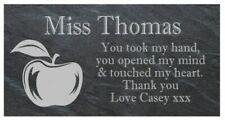 Personalised welsh slate Teacher sign novelty gift plaque