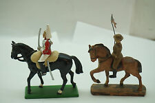 VINTAGE BRITAINS TOY SOLDIER LINEOL ELASTOLIN HORSE RIDER WWI LOT 2 METAL COMPO