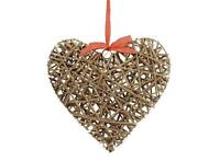 Tobs Led Pre-lit Shaker Style Wicker Willow Heart Fairy Lights Home Decoration