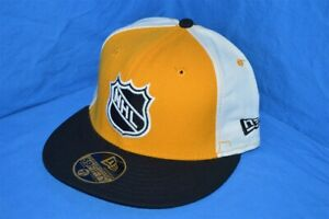 NHL HOCKEY PITTSBURGH PENGUINS YELLOW BLACK NEW ERA WOOL FITTED HAT CAP 7 1/8