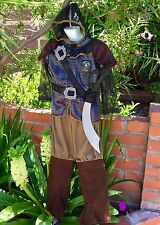 EURO CHRONICLES OF NARNIA PRINCE CASPIAN COSTUME & SWORD SET CHILD BOYS XS 3 4
