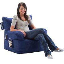 Bean Bag Blue Large Cozy Comfort Chair Dorm Stain Resistant Waterproof Seat
