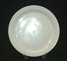 "Vintage Delco Restaurant Ware 8-3/4"" Salad Plate All White Narrow Rim USA MCM"