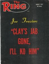 """THE RING AUGUST 1972-""""CLAY'S JAB GONE,I'LL KO HIM,"""" JOE FRAZIER, COVER STORY"""