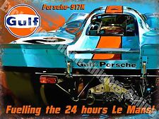Porsche 917K Racing Car Le Mans Classic Garage Advertising Large Metal Tin Sign