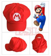 Red Super Mario Bro Anime Octagonal Hat Cap✔Cosplay Party✔Fancy Dress✔UK Stock