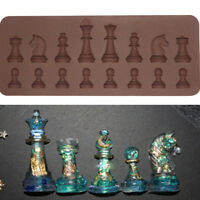 DIY 3D Chess Silicone Cake Decor Moulds Chocolate Cookies Candy Baking Mold