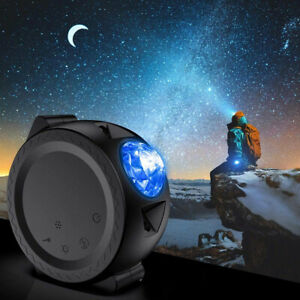 Space-Pod© Deep Space laser projector and nightlight in black with sound sensor.