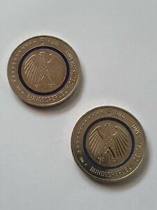 5 EURO Münzen Blauer Planet 2016 D & F