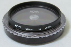 62mm Hoya Close Up +3 Filter - Rare In This Size