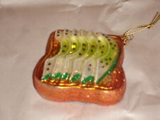 Sur La Table Glass Avocado On Toast Ornament Made In Poland