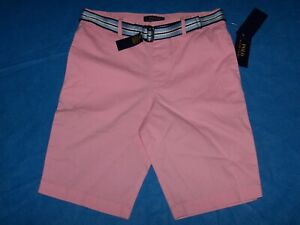 Size 16 Boys Polo Ralph Lauren Shorts with Belt (Pink)
