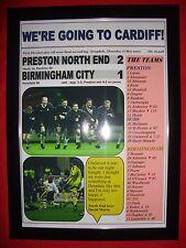 Preston North End 2 Birmingham City 1 - 2001 play-off semi - framed print