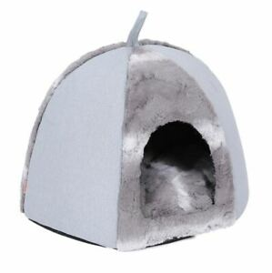 New Pet Dog Cat House Bed Tent Kennel Cushion Indoor House Mat Kitty Puppy
