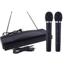 Wireless Microphone System Dual Handheld Professional Woofers Nfc Silver Antenna