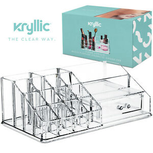 Acrylic Cosmetic Storage Lipstick Organizer - Square top with draw included