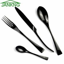 Black Stainless Steel Flatware Set Polishing Cutlery Tableware Fork Dinnerware