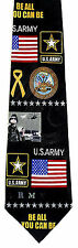Be All You Can Be Mens Neck Tie US Army Necktie Soldier Military Patriotic New
