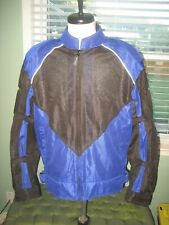 Hein Gericke Mesh Royal Blue & Black Jacket Sz MD Racer Motorcycle Padded Ninja