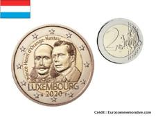 2 Euros Commémorative Luxembourg Prince Henri Orange Nassau 2020 UNC