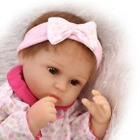 40cm Soft Silicone Vinyl Reborn Baby Doll Newborn Toddler Adorable Kids Dolls