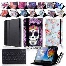 """LEATHER STAND COVER CASE + Bluetooth Keyboard For Various 10"""" Acer Iconia Tab"""