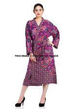 Women Mandala Bathrobe Cotton Indian Robe Spa One Size Lounge wear Cotton Decor