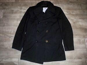 USN United States Naval Navy Pea Coat Size 36 Vintage 1960s 60s Wool Overcoat