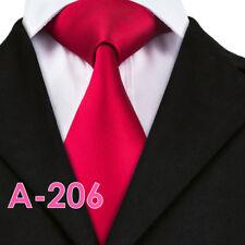 Hi-Tie Red Men's Neck Tie Necktie Business Formal US Seller New Free Shipping