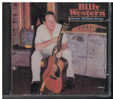 Billy Western from Milano, Texas cd classic country music
