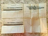Sale Invoicing From 1894 - Gibson & Price Co. - Ephemera Invoice