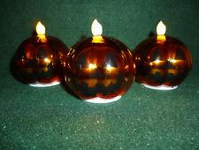 Hallmark Gift Bags Set of 3 Halloween Pumpkin Globes White Light NEW