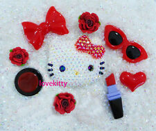 USA -- DIY Blinged Out AB Kitty Phone Case Resin Cabochons Deco Kit  Z415