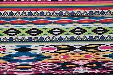 Ethnic Stripe Techno Print #48 Double Knit Fabric Stretch Poly Lycra Spandex BTY