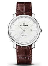 Eterna Artena Lady * elegante 34mm Damenuhr mit Datum Swiss Made 2510.41.11.1253