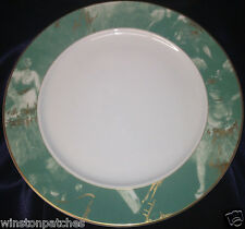 """ROSENTHAL CONTINENTAL R2748 12 1/8"""" SERVICE PLATE CHARGER TEAL RIM EPOQUE"""