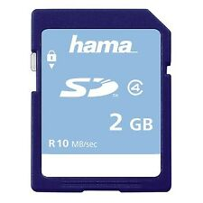 Hama 2GB High Speed 10MB/s Class 4 Secure SD Card For Camera Camcorder