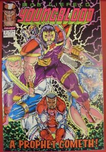 YOUNGBLOOD 2 IMAGE COMIC PINK 1ST APPEARANCE PROPHET W/CARD LIEFELD 1992 NM-