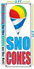 SNO CONES VERTICAL Banner Sign NEW 2X5