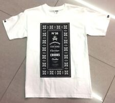 Crooks & Castles, Large Logo T Shirt, White, Small