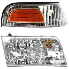 FIT FOR 1998 - 2011 FORD CROWN VICTORIA HEADLIGHT & CORNER LAMP RIGHT
