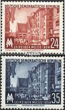 DDR 433-434 (kompl.Ausg.) postfrisch 1954 Leipziger Herbstmesse