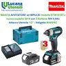 "MAKITA AVVITATORE IMPULSI mod 2019 DTW181RTJ - 2 Batterie 18V 5,0Ah 1/2"" MAKPAC"