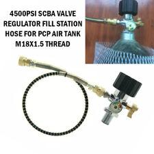 4500Psi Scba Valve Regulator Fill Station Hose For Pcp Air Tank M18x1.5 Thread
