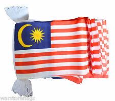 Malaysia 9 Metre Bunting 30 Flags Flag Malaysian
